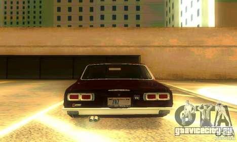 Nissan Skyline 2000-GTR для GTA San Andreas вид снизу