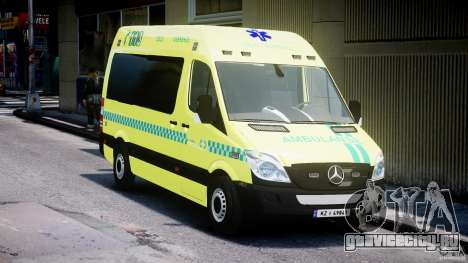 Mercedes-Benz Sprinter PK731 Ambulance [ELS] для GTA 4 вид сзади