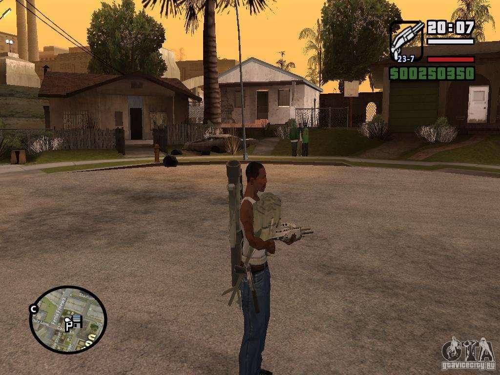 скачать мод оружия за спиной для Gta San Andreas - фото 3