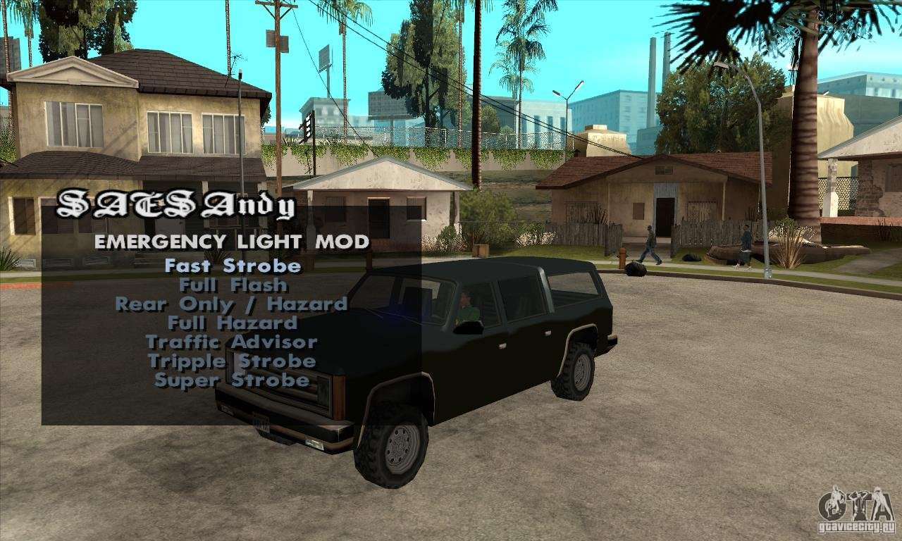 Elm v9 for gta sa (emergency light mod) для gta san andreas.
