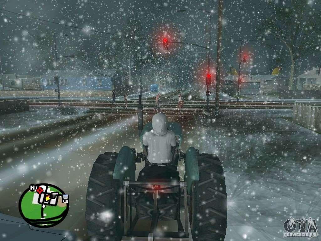 Мод на Снегопад для GTA San Andreas