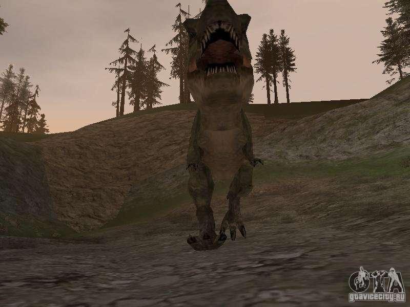 скачать мод на гта сан андреас на динозавров