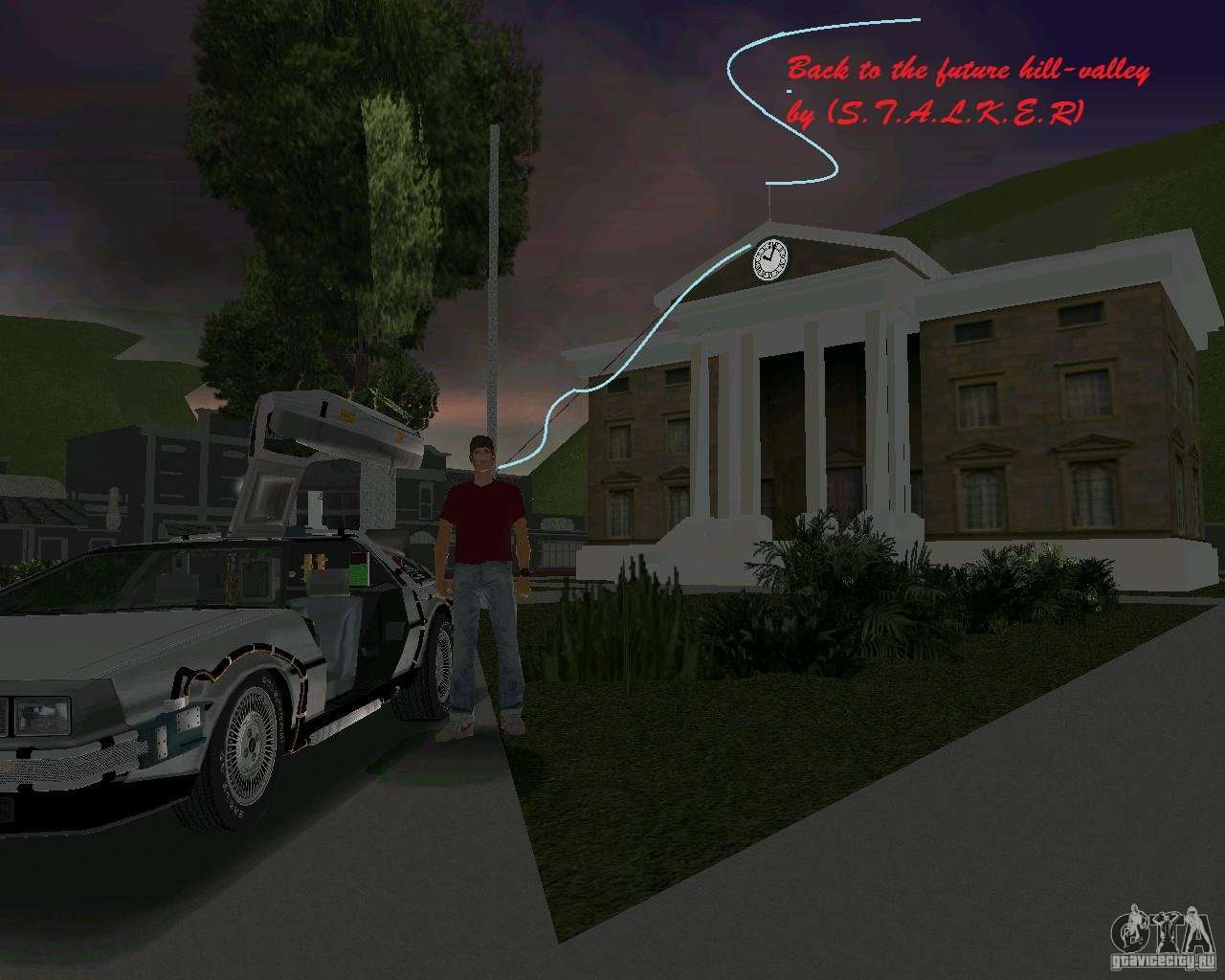 How to download gta vice city back to the future hill valley game.