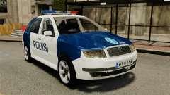 Skoda Fabia Combi Finnish Police ELS для GTA 4
