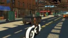 Мотоцикл из Трон (белый неон) для GTA 4