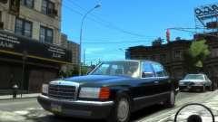 Mercedes-Benz W126 SEL560 1990 для GTA 4