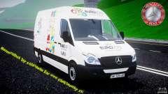 Mercedes-Benz Sprinter Euro 2012 белый для GTA 4