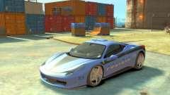 Ferrari 458 Italia Police для GTA 4