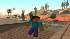 Скин Стива из игры Minecraft