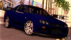 Nissan Skyline R34 GT-R Tunable для GTA San Andreas