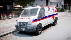 Ford Transit Polish Ambulance [ELS] для GTA 4