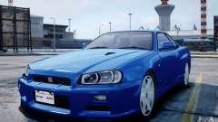 Nissan Skyline GT-R R34 Mspec для GTA 4