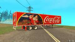 Полуприцеп к Peterbilt 379 Custom Coca Cola для GTA San Andreas