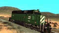 Локомотив SD 40 Burlington Northern 8072
