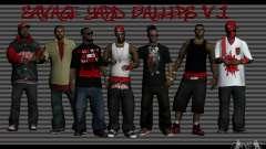 Скины банды Bloodz