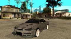 Nissan Skyline R 34 Need For Speed Carbon для GTA San Andreas