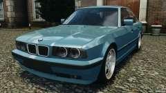 BMW E34 V8 540i бирюзовый для GTA 4