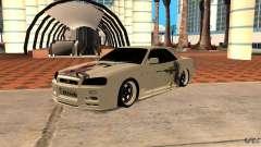 Nissan Skyline R-34 для GTA San Andreas