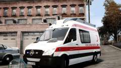 Mercedes Sprinter Turkish Ambulance для GTA 4