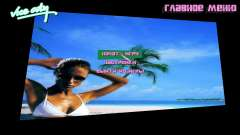 Фон меню Spiaggia для GTA Vice City