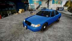 Ford Crown Victoria Detective v4.7 Emerglights blue [ELS] для GTA 4