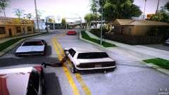 Пешеходы цепляются к авто для GTA San Andreas