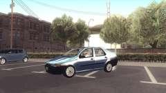 Fiat Siena 1998 серебристый для GTA San Andreas