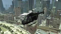 Black U.S. ARMY Helicopter v0.2 для GTA 4