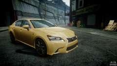 Lexus GS350 F Sport 2013 для GTA 4