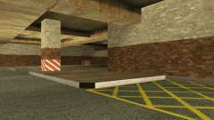 Обновлённый подземный гараж полиции в Лос Сантосе для GTA San Andreas