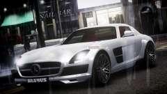 Mercedes-Benz SLS 2011 Brabus AMG Widestar v1.1 для GTA 4