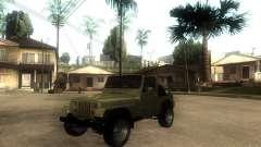 Jeep Wrangler 1986 4.0 Fury v.3.0 для GTA San Andreas