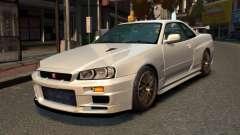 Nissan Skyline R34 2002 для GTA 4