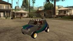 Mini Cooper серебристый для GTA San Andreas