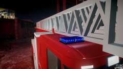 Scania Fire Ladder v1.1 Emerglights blue-red [ELS] для GTA 4