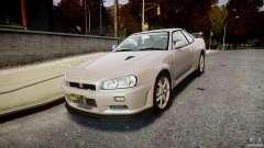 Nissan Skyline GT-R R34 2002 v1 для GTA 4