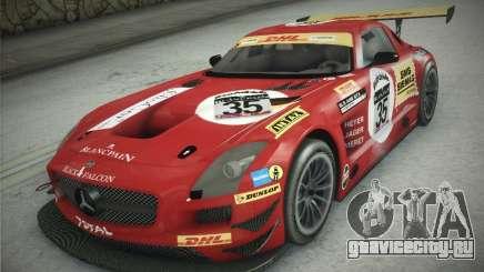 Mercedes-Benz SLS AMG GT3 Black Falcon 2011 для GTA San Andreas