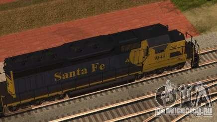SD 40 UP BN Santa Fe для GTA San Andreas