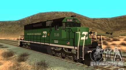Локомотив SD 40 Union Pacific Burlington Northern 3149 для GTA San Andreas