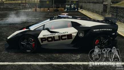 Lamborghini Sesto Elemento 2011 Police v1.0 ELS для GTA 4