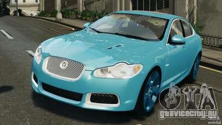 Jaguar XFR 2010 v2.0 бирюзовый для GTA 4