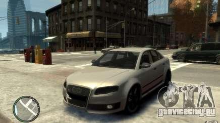 Audi RS4 серебристый для GTA 4
