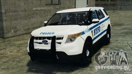 Ford Explorer NYPD ESU 2013 [ELS] для GTA 4