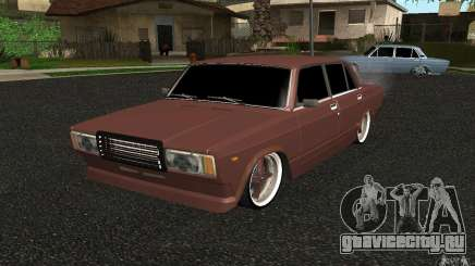 ВАЗ 2107 Tuning серый для GTA San Andreas