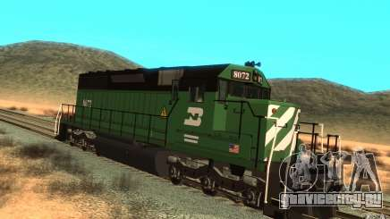 Локомотив SD 40 Burlington Northern 8072 для GTA San Andreas