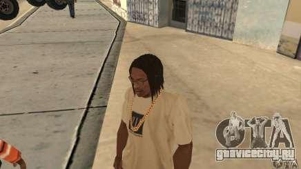 Длинные тёмные волосы для GTA San Andreas