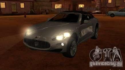 Maserati Granturismo S серебристый для GTA San Andreas