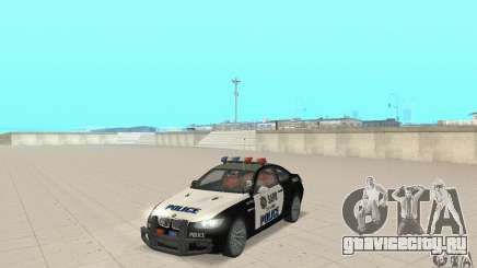 BMW M3 E92 Police для GTA San Andreas