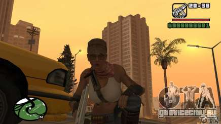 Новая военная девушка для GTA San Andreas