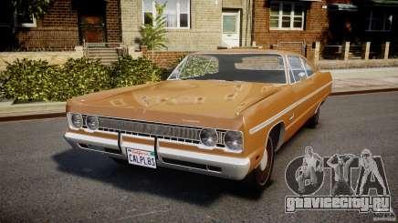 Plymouth Fury III Coupe 1969 для GTA 4